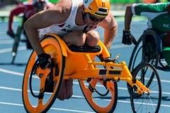 400 m Vorlauf im Rennrollstuhl , XV. Paralympische Sommerspiele Rio de Janeiro 2016