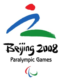 Abbildung des Logos der Paralympischen Spiele PEKING 2008