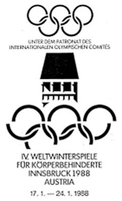Abbildung des Logos der Paralympischen Spiele INNSBRUCK 1988
