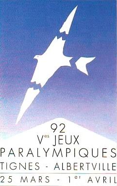 Abbildung des Logos der Paralympischen Spiele TIGNES-ALBERTVILLE 1992