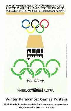 Abbildung des Logos der Paralympischen Spiele INNSBRUCK 1984