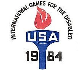Logo der Paralympischen Spiele NEW YORK 1984
