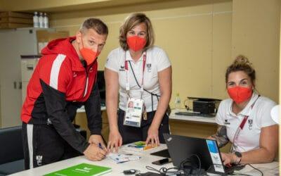 Gardos eröffnet das Paralympische Dorf