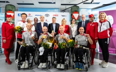 Welcome back: Großer Empfang für Paralympic Team Austria
